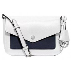 Michael Kors White/Black  Cross Body Shoulder Bag