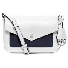 Michael Kors White/Black  Cross Body Shoulder Bag