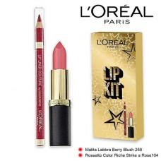 L'Oreal Paris Lip Kit Lipstick 104 + Lip Liner 258