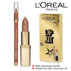 L'Oreal Paris Lip Kit Lipstick 116 + Lip Liner 630