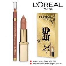 L'Oreal Paris Lip Kit Lipstick 630 + Lip Liner 630