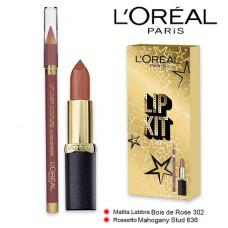 L'Oreal Paris Lip Kit Lipstick 302 + Lip Liner 636