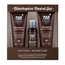 Mancave Blackspice Beard Set  Beard Control + Beard Wash + Beard Oil