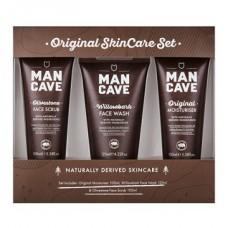 Mancave Original Skin Care Set F ace Scrub + Face Wash + Moisturiser